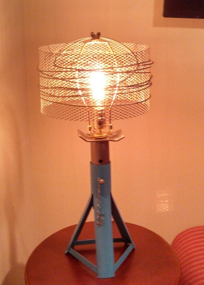 Teal Industrial Lamp With Metal Mesh And Wire Lampshade Wire Lampshade Vintage Industrial Lighting Lamp Shades