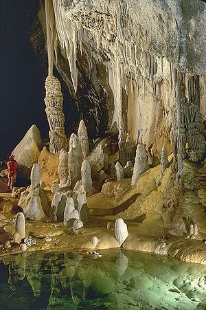 Lechuguilla Cave in New Mexico.  I'd love to go caving here one day!!