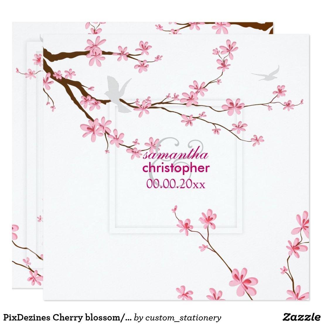 Pixdezines Cherry Blossom Diy Background Invitation Zazzle Com Cherry Blossom Theme Background Diy Cherry Blossom