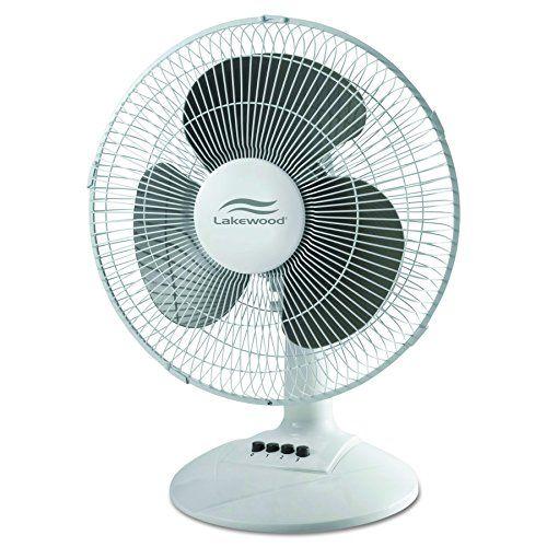Lakewood LDF1210B WM 12 Inch Oscillating Table Fan