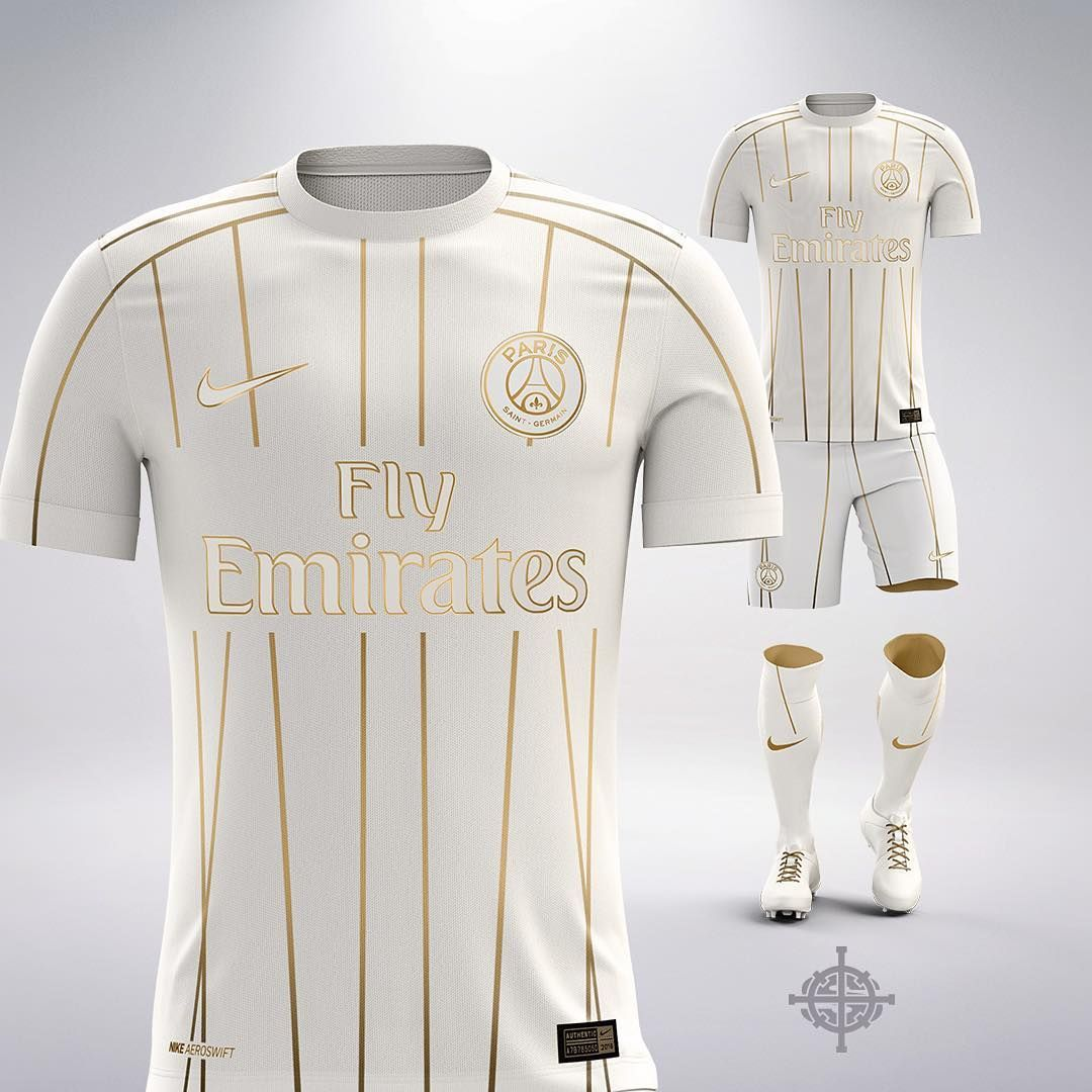What if Nike did a white and gold away kit for PSG? Is
