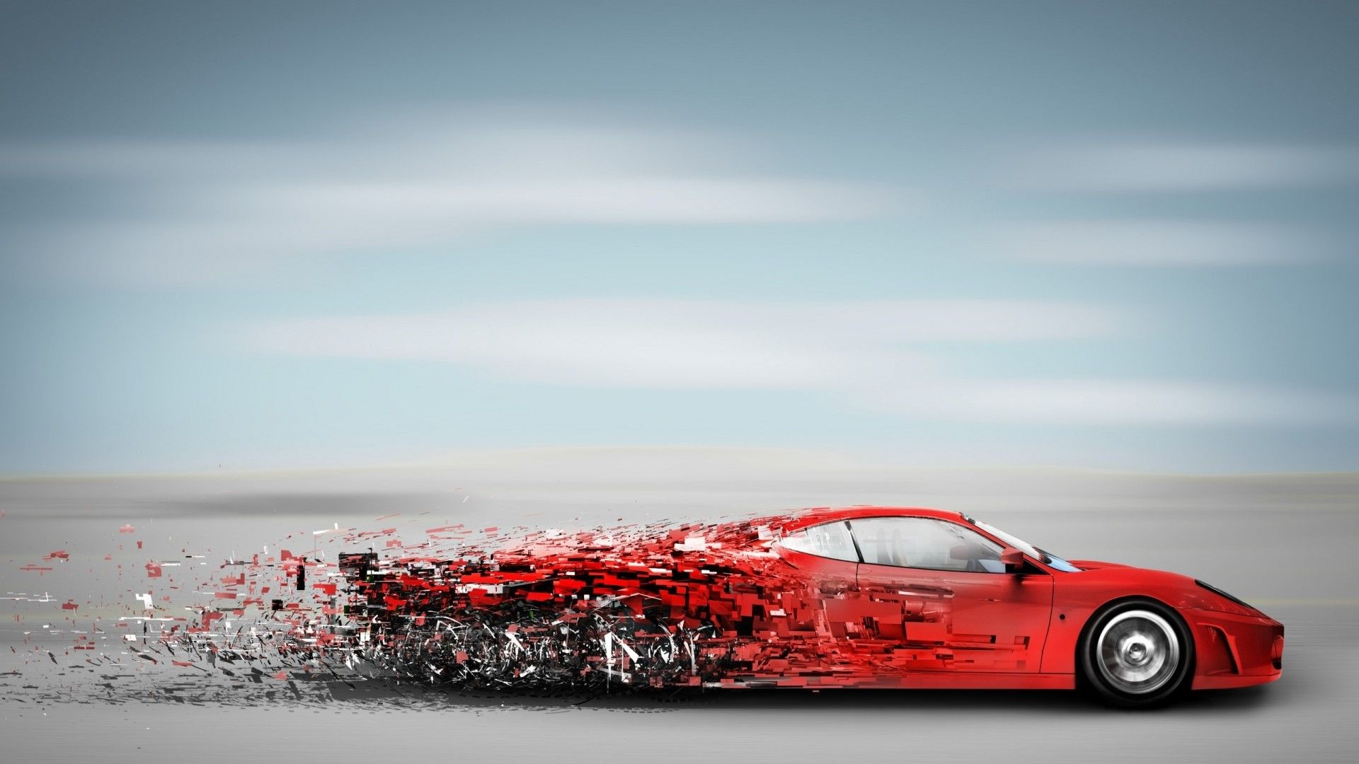Abstract Red Speedy Car Sport Car Wallpaper Abstract Wallpapers
