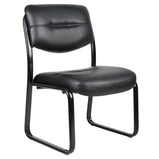 shop for boss black leatherplus bonded leather guest chair. get