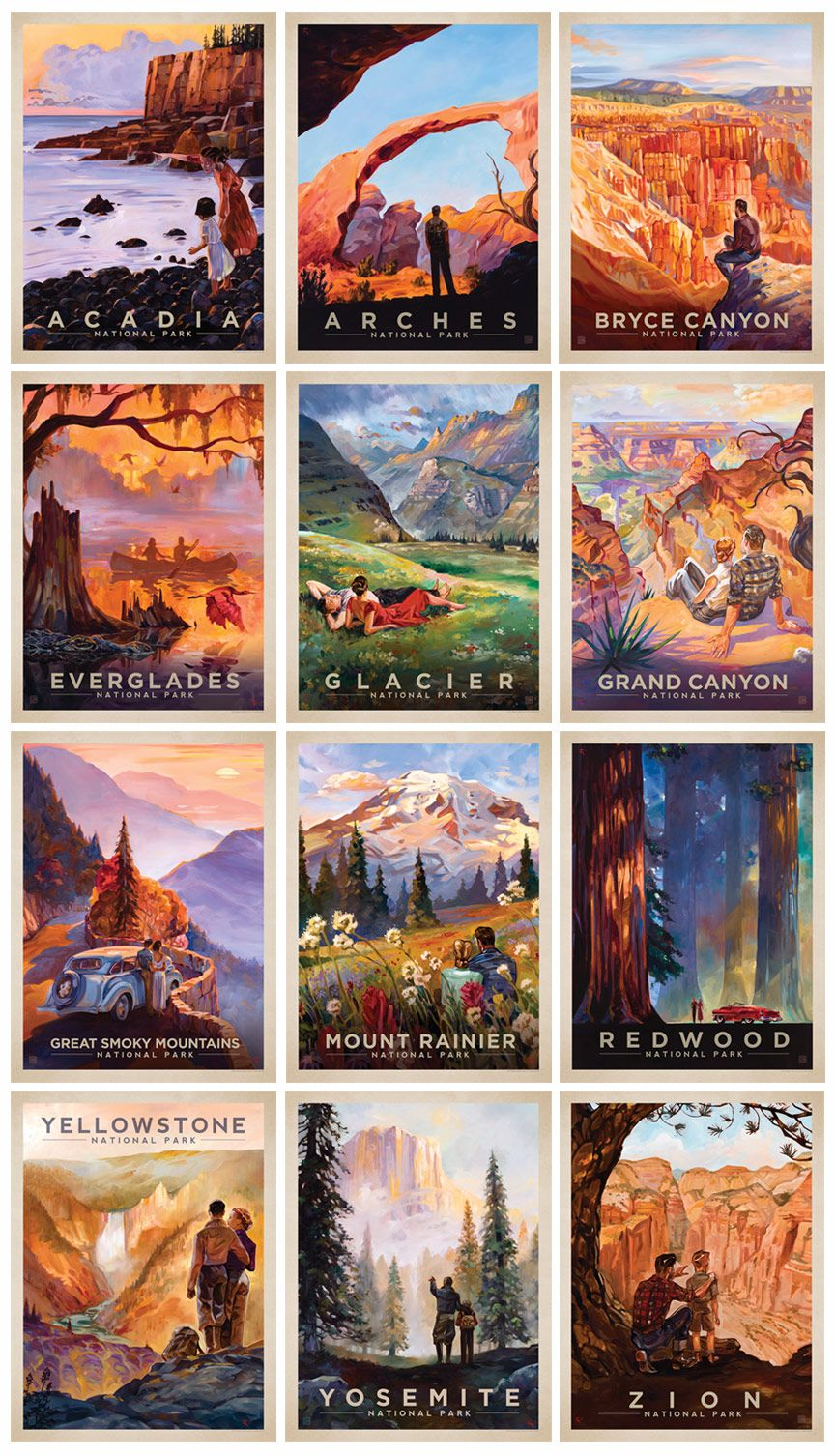 Poster design blog - Anderson Design Group Blog After 5 Years We Have Completed Our National Parks