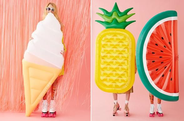 Which way will you sway? An ice cream float (get it?!), or will you go juicy fruit style with these pineapple and watermelon dreams? Photo: ban.do