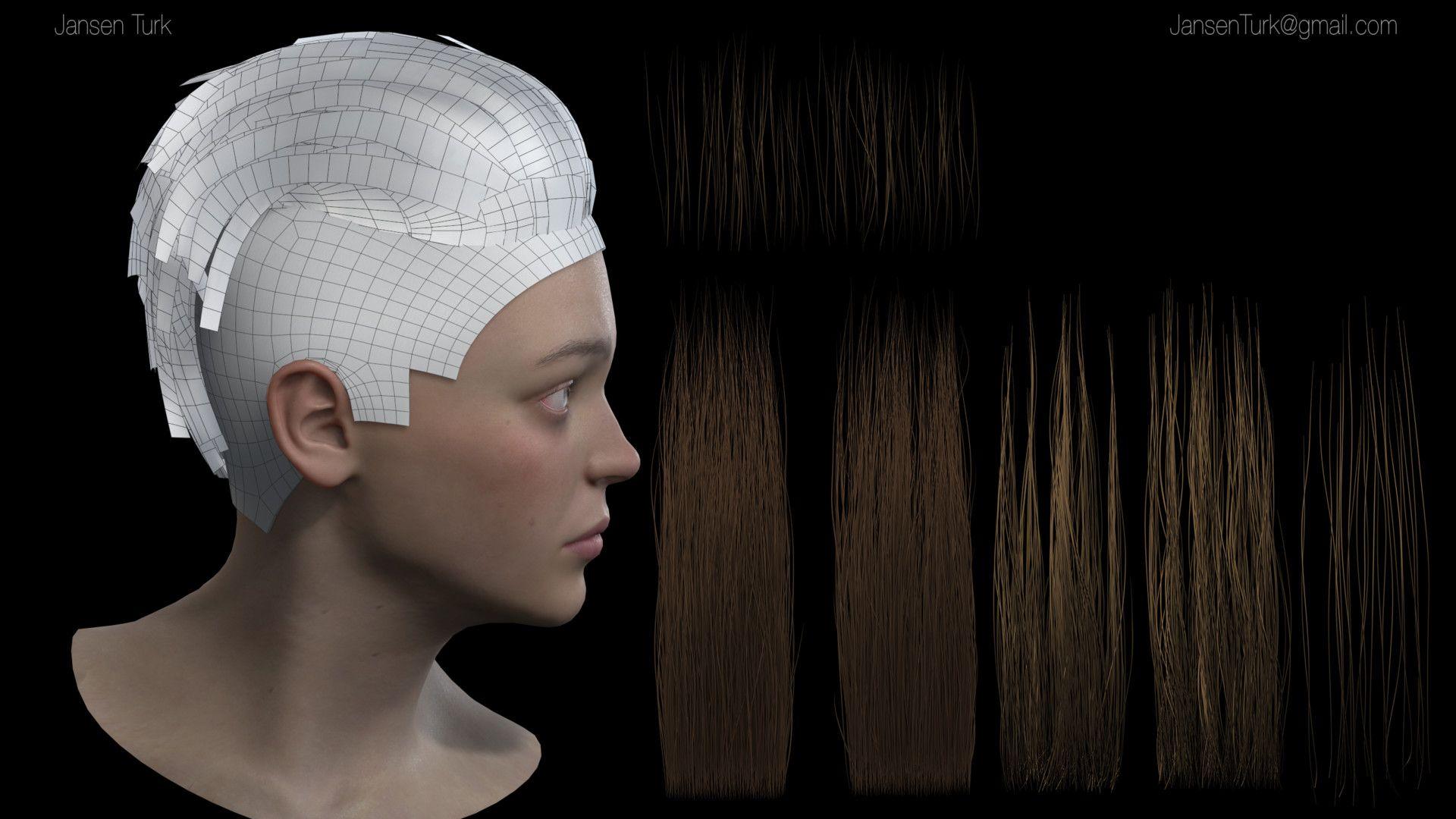 artstation - real-time hair wip