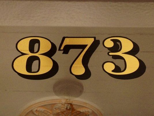 Real Gold Leaf House Numbers Alameda Hand Painted And