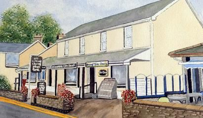 The Gift Shop - Amroth--Peter's Art Gallery - Watercolor Paintings
