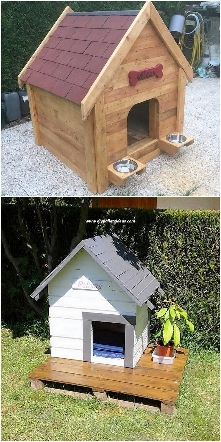 Cheap Diy Ideas With Recycled Wood Pallets Dog House Diy Wooden