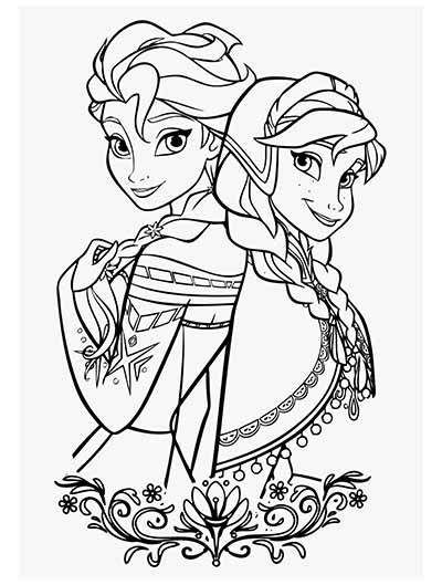 [UPDATED] 101 Frozen Coloring Pages + Frozen 2 Coloring
