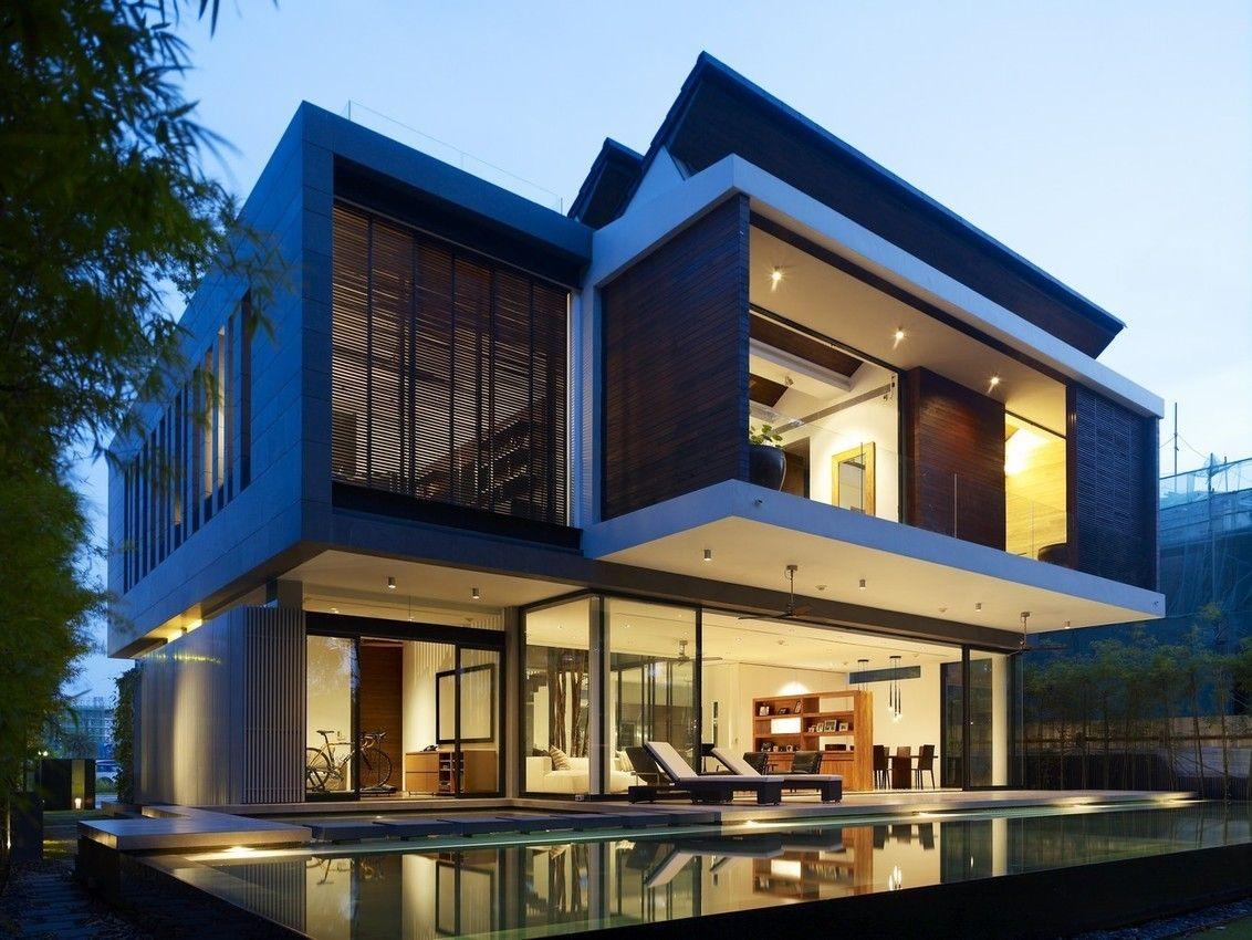 72 Sentosa Cove Par ONGu0026ONG   Singapour   Mariage De Bois Et Béton Pour  Cette Superbe Maison Contemporaine Ouverte Sur La Nature Environnante