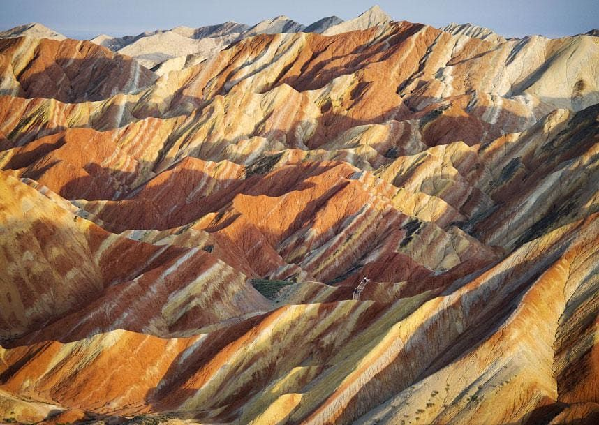 Incredibly Colorful Rock Formations In China  Rock Formations