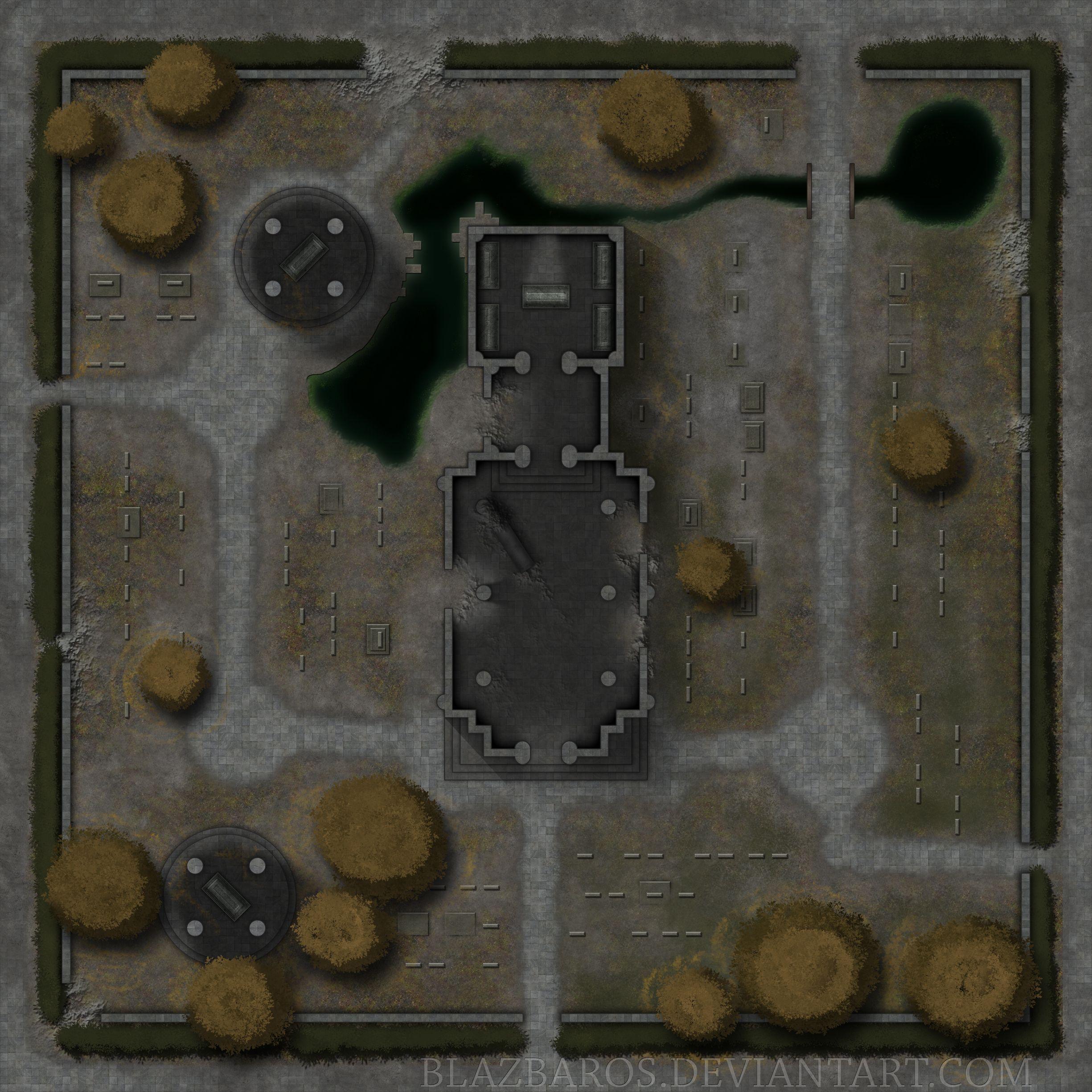Mordheim Map 2: The Cemetary By Blazbaros.deviantart.com