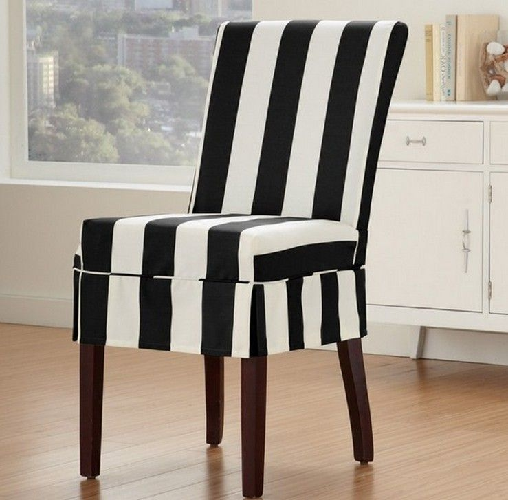 White Stretch Dining Room Chair Covers Home Decor Home Exterior Dining Room Chair Covers Striped Dining Chairs Dining Chair Slipcovers