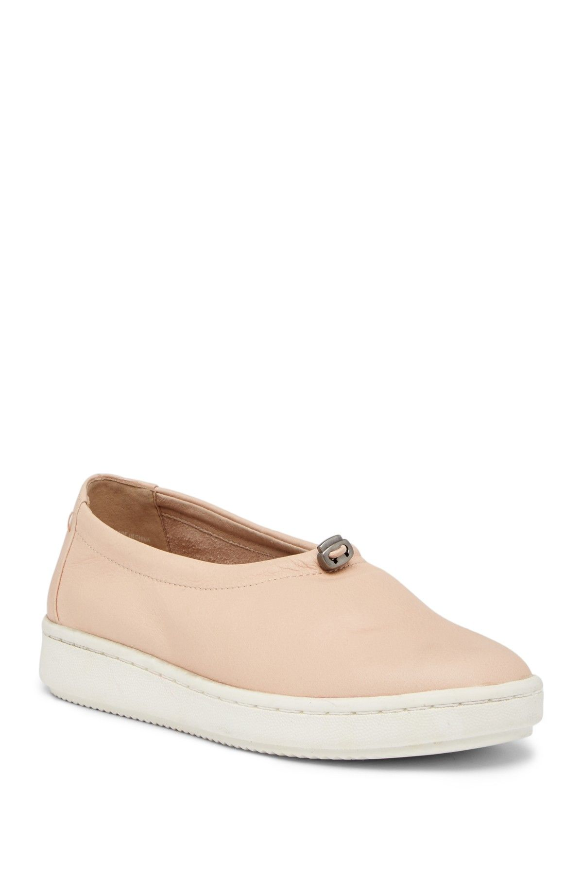Eileen Fisher Washed Leather Sneaker