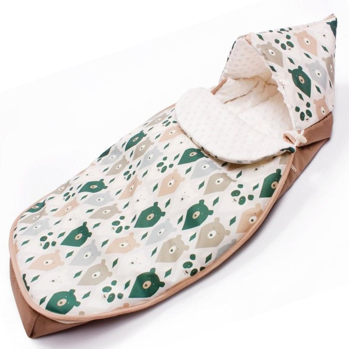 couverture pour la poussette ou si/ège auto en coton pour printemps /ét/é automne Tricot Beige Sevira Kids Chanceli/ère universelle