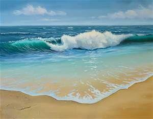 acrylic ocean paintings bing images zee bossen lucht pinterest