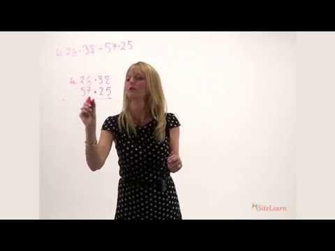 Subtracting Decimals - YouTube