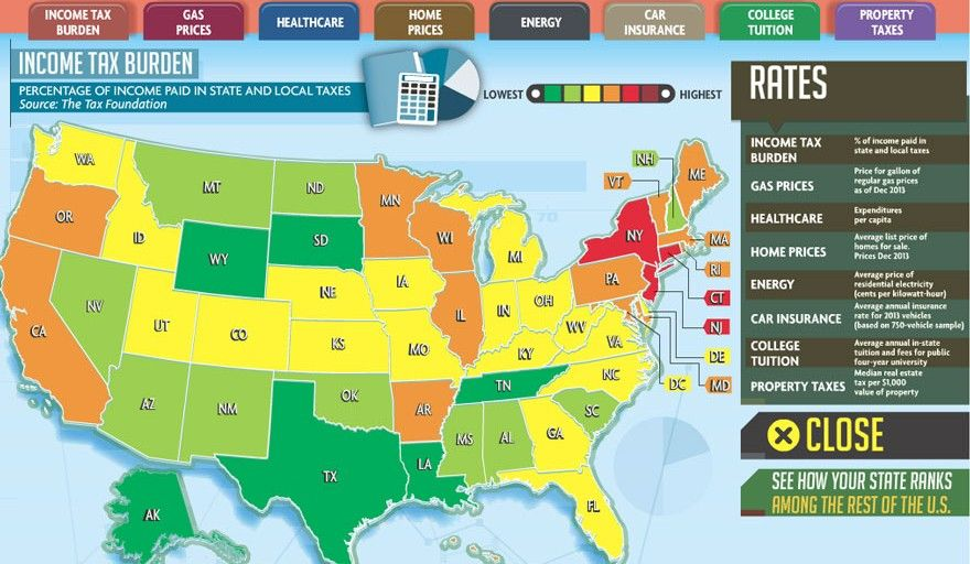 Whether You Are Ready To Retire Start A Family Or Just Tired Of - Map of us states by cost of living