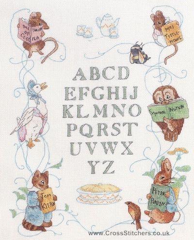 Beatrix Potter/'s Peter Rabbit Counted Cross Stitch Chart Pattern