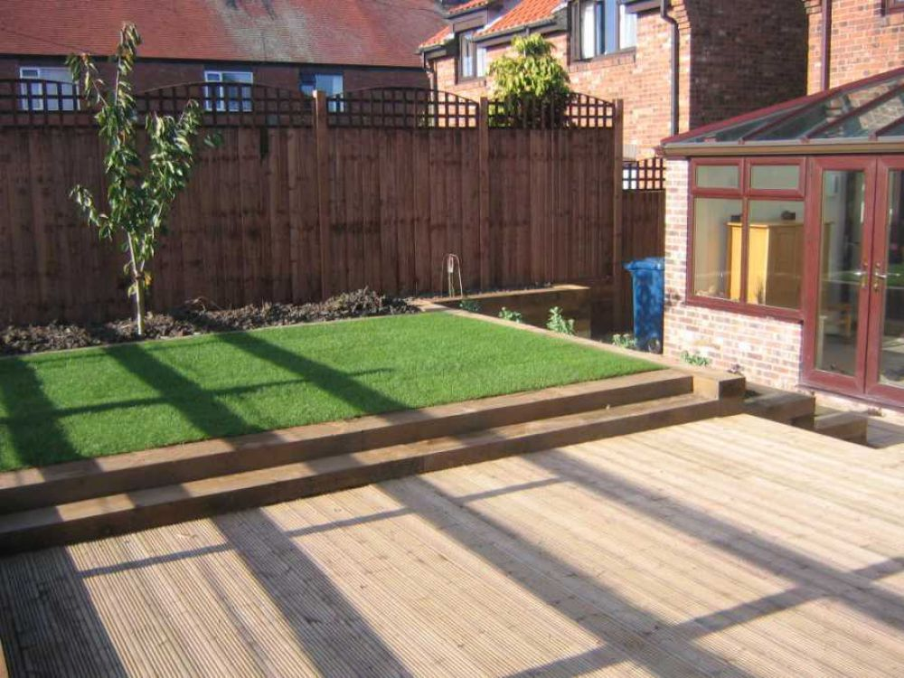 railway sleepers in gardens ideas google search