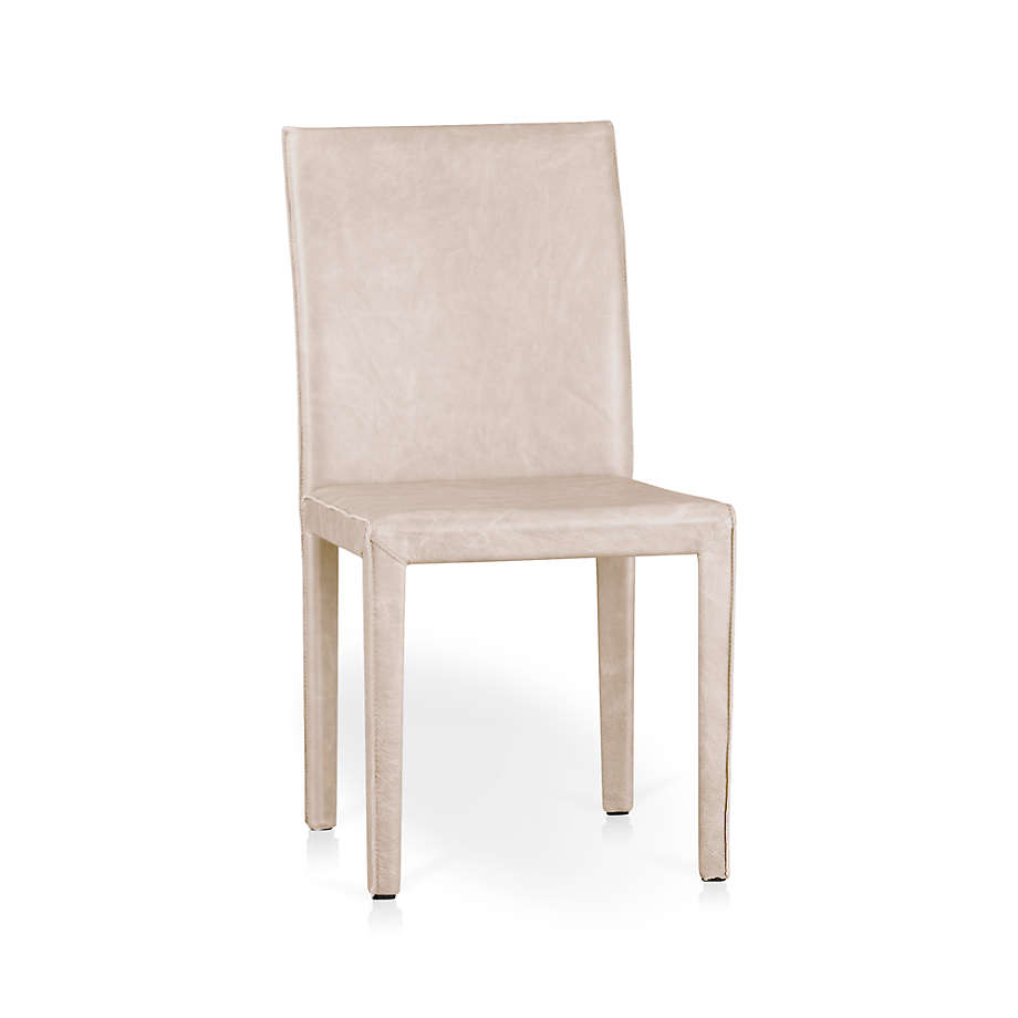 Folio Sand Top Grain Leather Dining Chair + Reviews   Crate and ...