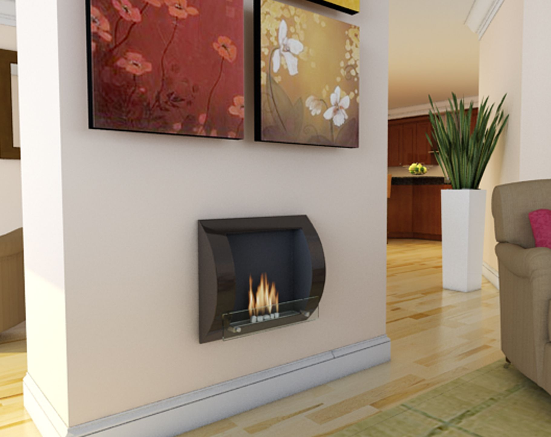 Fuego Wall Mounted Bioethanol Fireplace From Www Imaginfires Co Uk