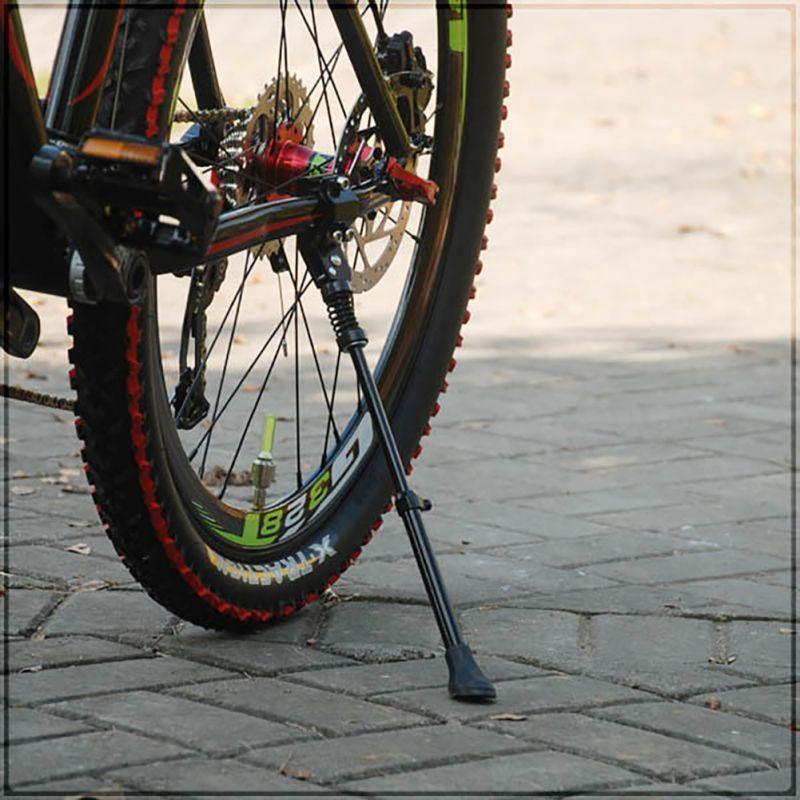 "Black Bike Bicycle Adjustable Aluminum Alloy Side Kickstand For 16/"" 20/"" 24/"" 26/"""