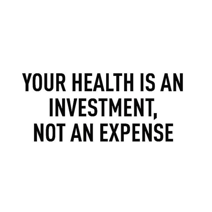 Invest in yourself. Invest in your health.