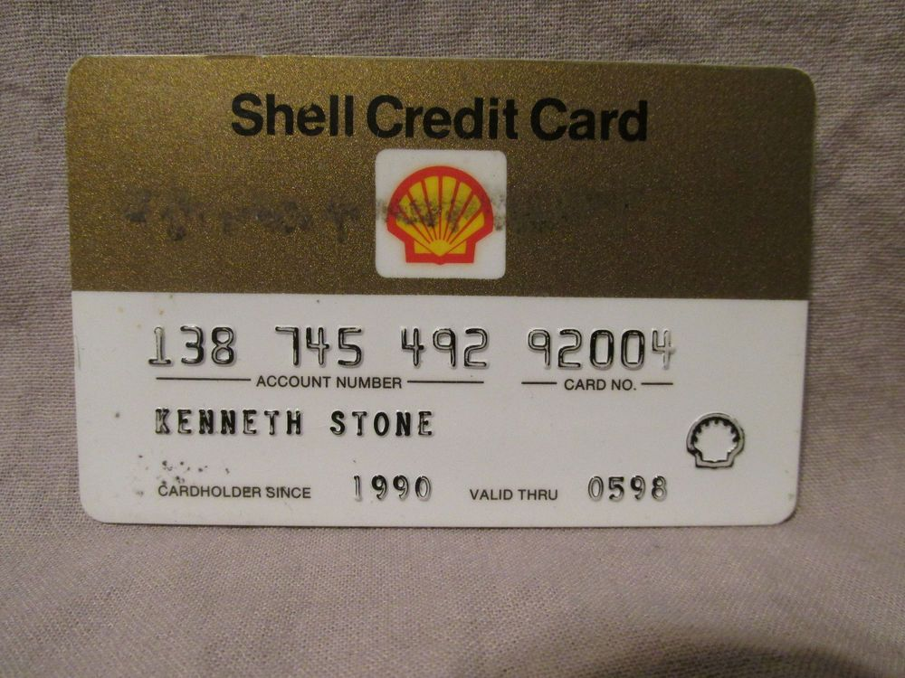 Expired Shell Gas Credit Card 1998 Kps Gas Credit Cards Credit