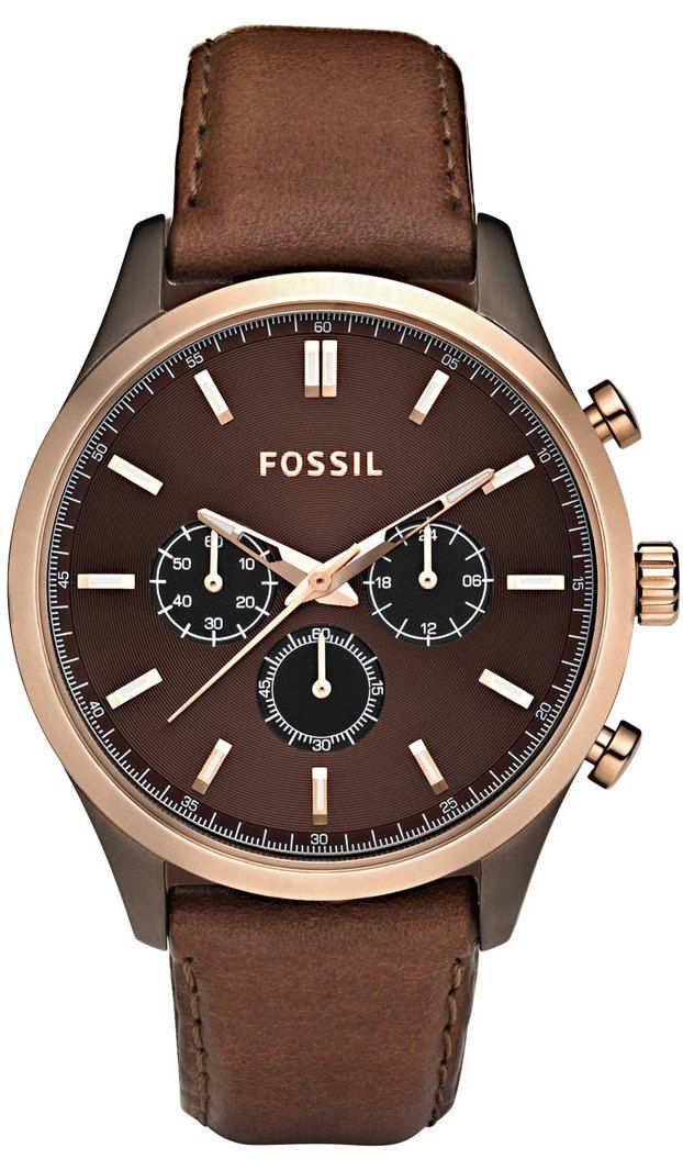 FOSSIL Walter Leather Watch - Brown FS4632  f7ced58dd4
