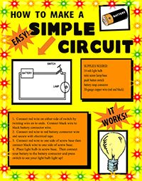 make a science fair project poster ideas simple battery circuit rh pinterest com Simple LED Circuits Simple Resistor Circuit Battery