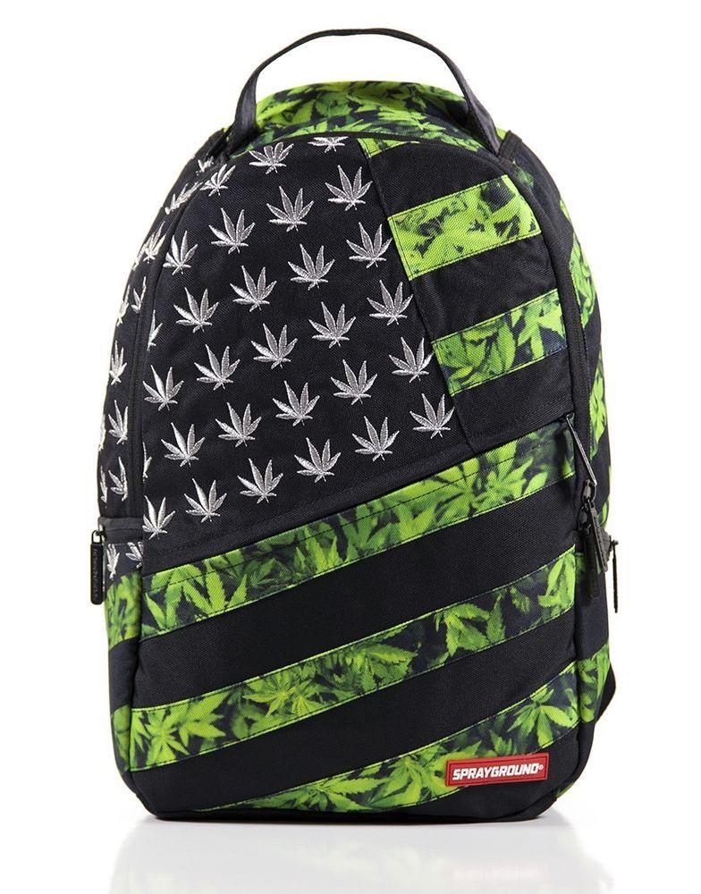 Sprayground American Flag Sel Weed Backpack Laptop Bag