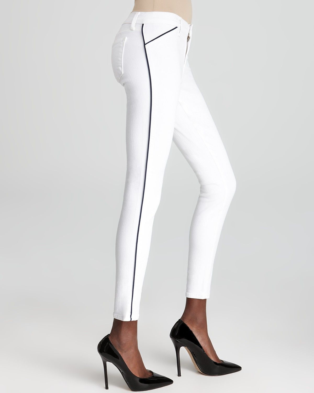 J Brand Jeans - Piped Skinny in Blanc | Bloomingdale\'s | Patrones de ...