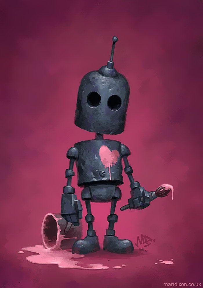 Odinokie Roboty V Risunkah Matt Dixon Robot Pinterest Robot