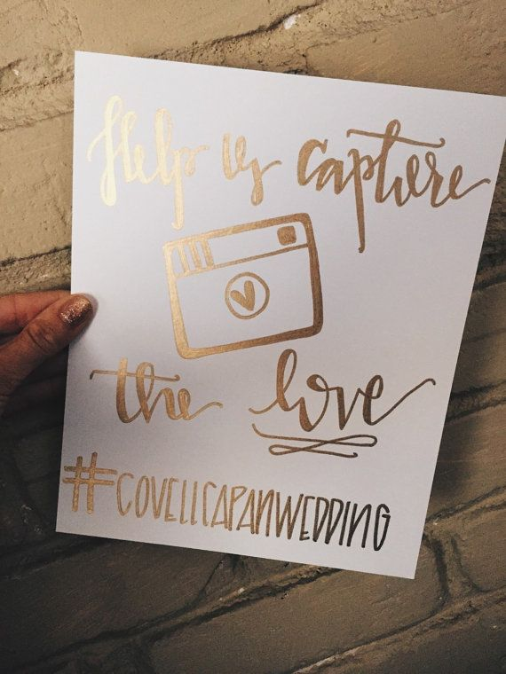 Funny Wedding Hashtags.Gold Foil Wedding Hashtag Sign By Keeplifesimpledesign On Etsy