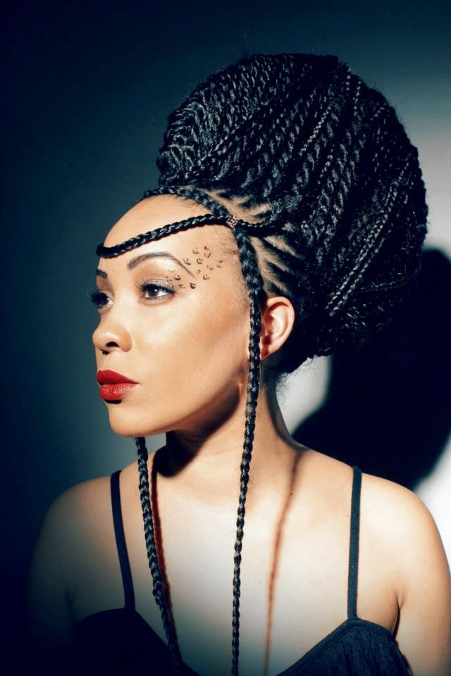 african hair style love this one natural hair style braids