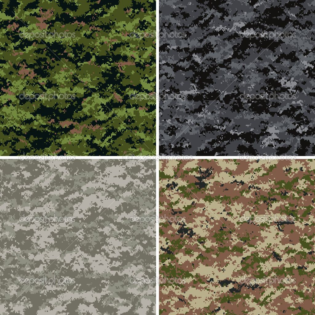 Digital Camouflage Seamless Patterns Forest Urban Universal And