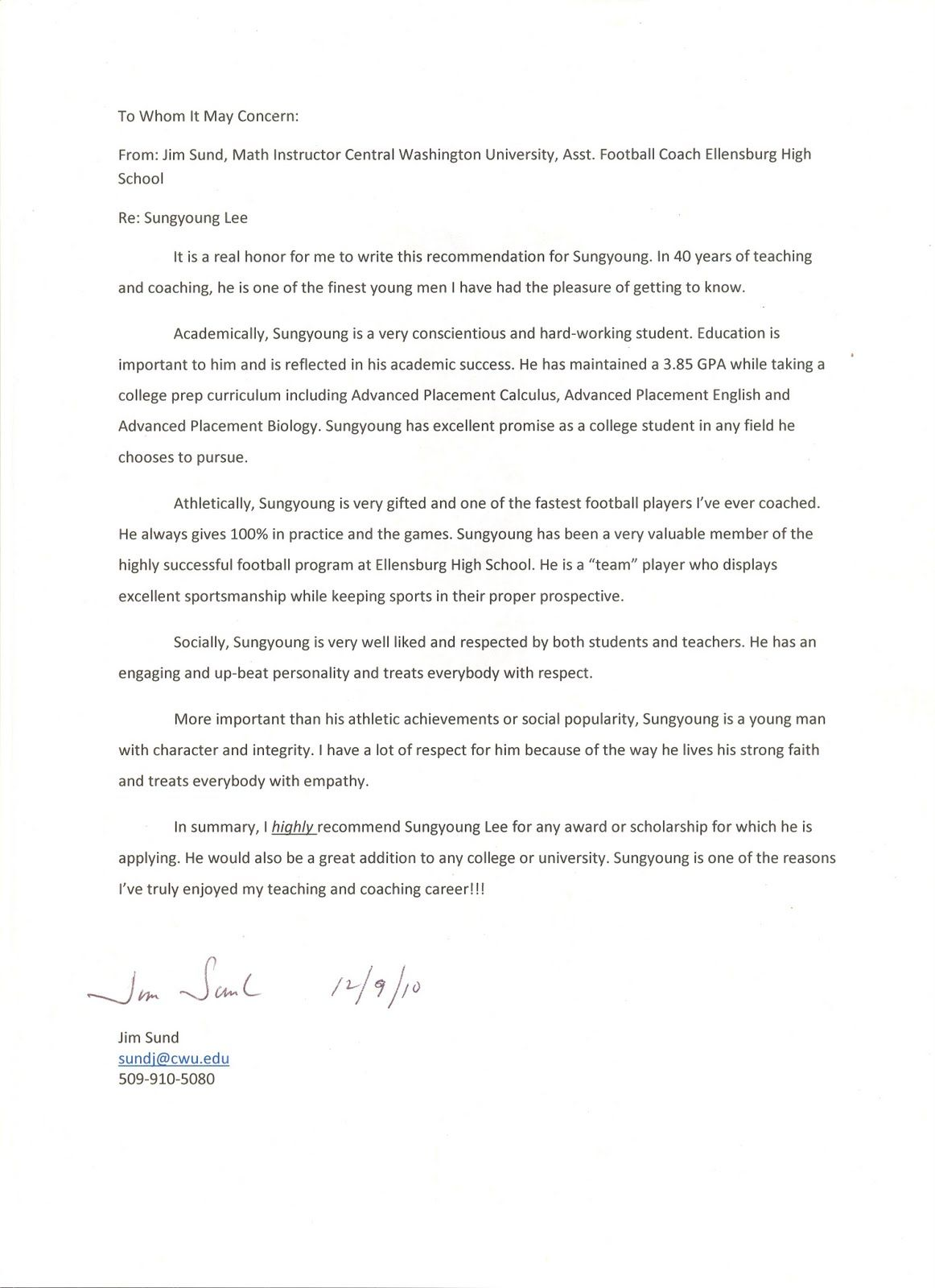 eagle scout letter of recommendation -