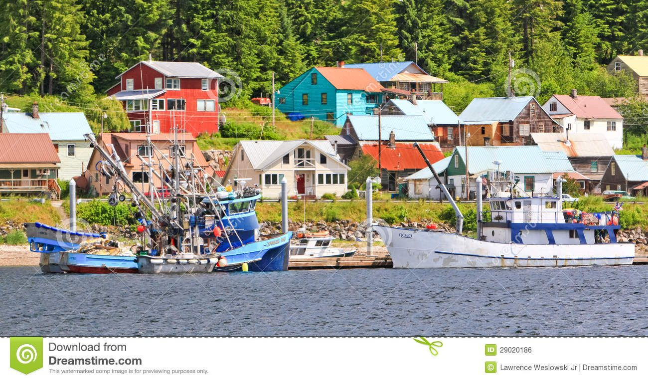 The Town Of Hoonah Alaska On Chichagof Island Hoonah Is The Largest