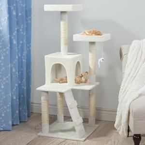 Penthouse Sleep and Play Cat Tree in White
