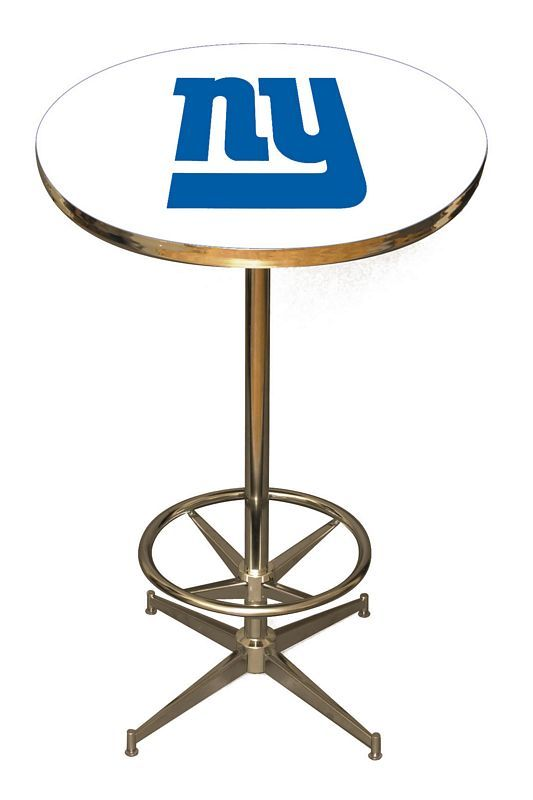 Cool officially licensed new york giants chrome table for only get into the game with an officially licensed mlb pub table by imperial billiards the mlb pub tables are perfect for your game room garage or kitchen watchthetrailerfo