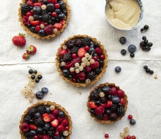 Dairy, sugar and gluten-free berry tartlets by Amy Chaplin. #glutenfree #dairyfree #sugarfree