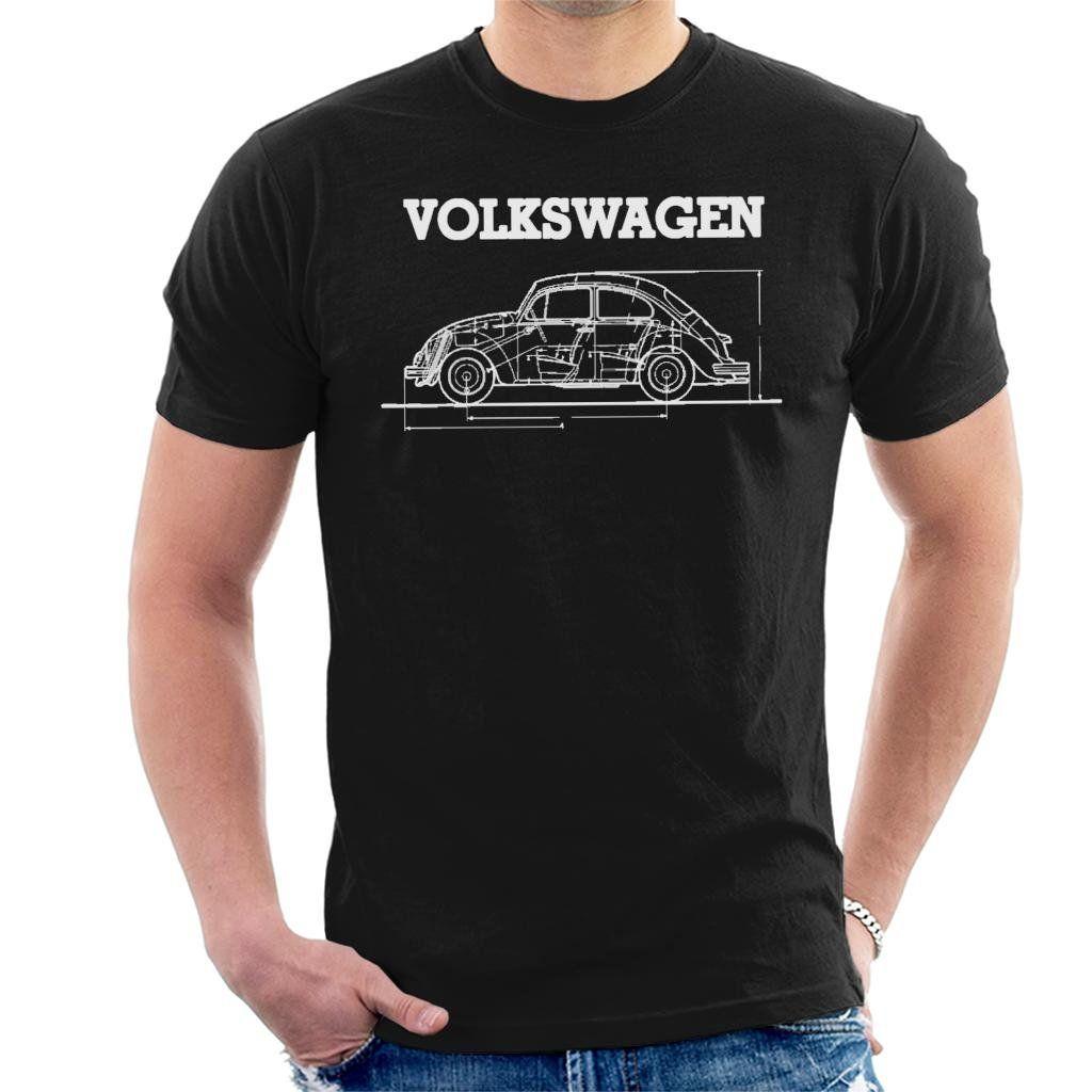 Volkswagen Beetle White Technica Mens Tshirts Volkswagen Beetle Volkswagen