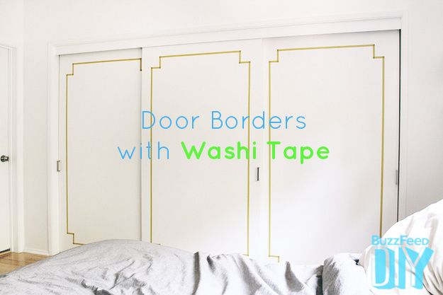 2. Decorative Closet Doors | Two Washi Tape Projects Anyone Can Do -- this is exactly what I need to do for my bedroom closet!
