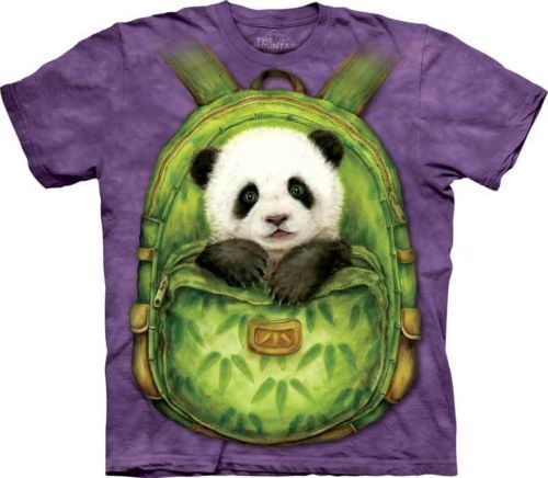 Backpack Panda Adult T Shirt The Mountain in Stock | eBay