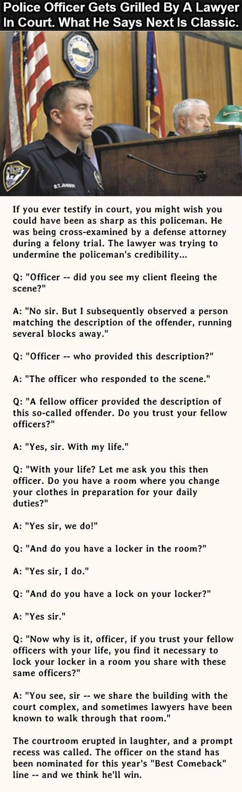 Police Officer vs Lawyer | American Patriot | Funny, Cops