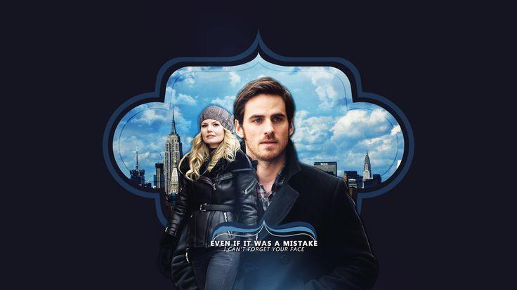 Colin O'Donoghue -Killian Jones - Captain Hook Jennifer Morrison - Emma Swan on Once Upon A Time