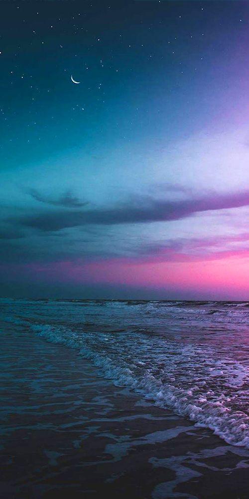In The Night Beach Tropics Travel Nighttime Beaches Dusk Night Sky Wallpaper Night Skies Beach Night