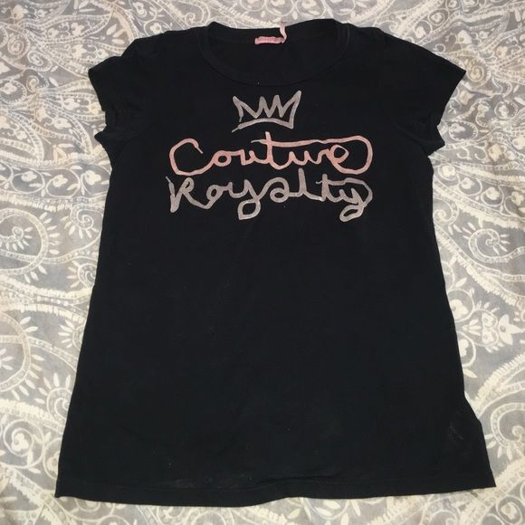Juicy Couture Cotton Tee with Velour Lettering Juicy Couture Cotton Tee with Velour Lettering Juicy Couture Tops Tees - Short Sleeve